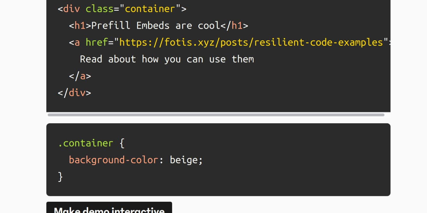 Resilient Code Examples with CodePen | Fotis Papadogeorgopoulos